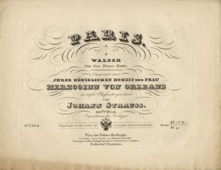 [Op. 101]. Paris. Walzer fûr das Piano-Forte. Johann STRAUSS, Father.