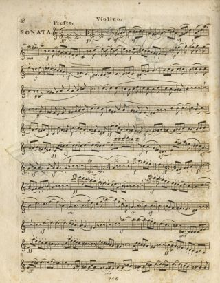 [Op. 23]. Sonate pour Piano-Forte et Violon... Oeuv. 23. [Violin part only]. Ludwig van BEETHOVEN.