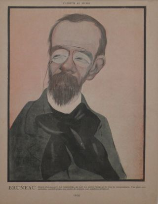 Portrait caricature by Aroun-al-Rascid [pseud. Umberto Brunelleschi] (1879-1949). Alfred BRUNEAU.