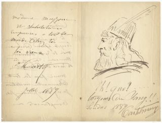 "Autograph letter signed ""Castelmary"" to an unidentified female correspondent. Armand CASTELMARY"