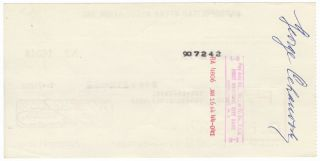 "Autograph signature (""George Cehanovsky"") on verso of a Metropolitan Opera Association check in payment for services rendered."