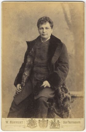Three-quarter length cabinet card photograph in formal attire. Karl SCHEIDEMANTEL