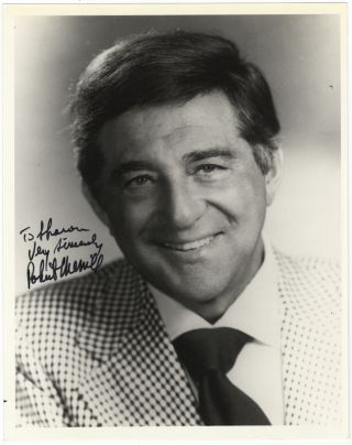 "Bust-length photograph, signed in full and inscribed to ""Sharon."" Robert MERRILL."