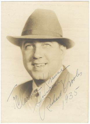 "Photograph signed in full, dated, and inscribed to ""To Clarence Krause sincerely Richard Crooks 1935."" Richard CROOKS."