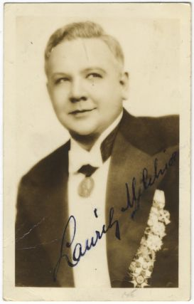 Waist-length photograph in formal attire, signed in full. Lauritz MELCHIOR
