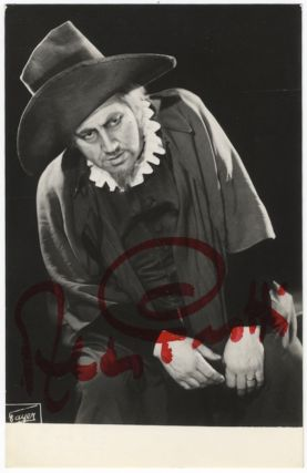 Three-quarter length role portrait photograph of the noted baritone. Signed in full and. Aldo PROTTI