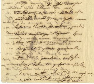 "Autograph letter signed ""Bellini"" to Count Rodolphe Apponyi. Vincenzo BELLINI"