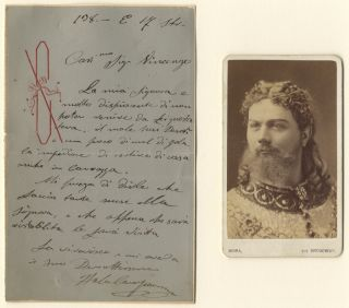 "Autograph letter signed in full to ""Mr. Vincenzo"" Italo CAMPANINI."