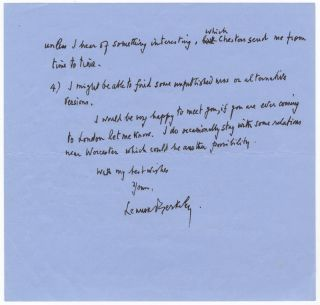 Three autograph letters signed to pianist and editor Alan Poulton