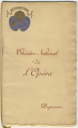 Souvenir program for a performance of the composer's opera Hamlet at the Théatre National de l'Opéra, Paris, August 2, 1909