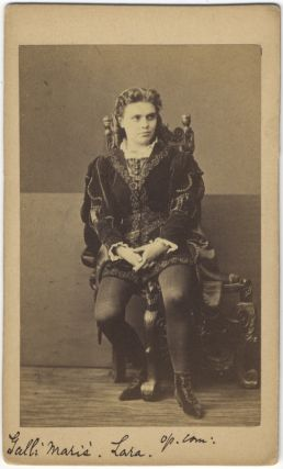 Carte de visite photograph of the noted French mezzo-soprano. Célestine GALLI-MARI&Eacute