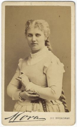 Waist-length carte-de-visite photograph of the noted Swedish soprano as Marguerite in Gounod's...