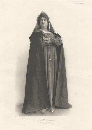 Full-length photoprint of the contralto in Act I of Alfred Bruneau's opera L'Ouragan. Marie DELNA