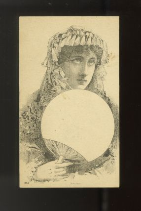 A collection of 8 postcard photographs and 1 lithographic portrait of prominent American and English actors and actresses active in the late 19th and early 20th centuries
