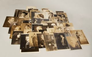 Collection of 45 original photographs of early 20th-century singers. SINGERS - Photographs - 20th...
