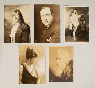 Collection of 45 original photographs of early 20th-century singers