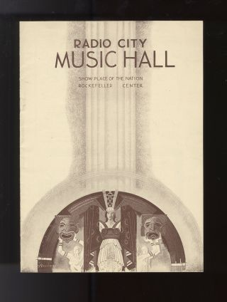 Radio City Music Hall Program for showings of films featuring Laurence Olivier (1907-1989), Elisabeth Bergner (1897-1986), and Irene Dunne (1898-1990)