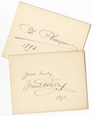 Small group of items relating to performances of the composer's opera, Faust