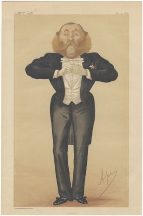 "Chromolithographic portrait by Ape (Carlo Pellegrini 1839-1889) entitled ""Cotillon"" DANCE,..."