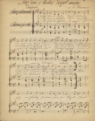 [Opp. 24, 25, 27, nos. 1, 81, and 85 no. 12]. A collection of early editions of lieder and excerpts from the opera Genoveva