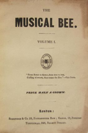 The Musical Bee. Volume 1[-5]. VOCAL MUSIC - 19th Century - English