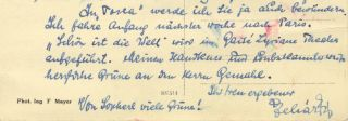 "Autograph letter signed ""Lehár Fr"" to the celebrated soprano Maria Jeritza. Franz LEHÁR."