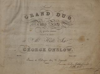 A collection of 19th century music for piano four-hands with German-American provenance. PIANO...