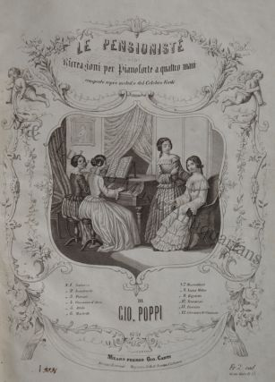 Italian album of 19th century salon music for piano in both two- and four-hand arrangements. PIANO MUSIC - 19th Century - Italian.