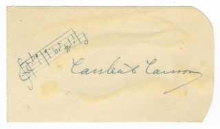 Autograph musical quotation signed in full. Lars-Erik LARSSON