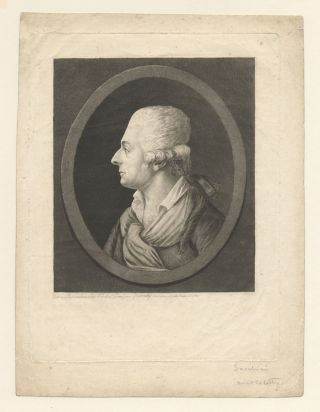 Fine bust-length aquatint portrait engraving by Queneday. Antonio SACCHINI.