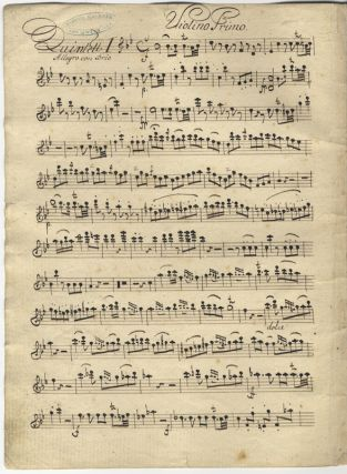 [Op. 8, nos. 1-3]. [3] Quintetti del Kromer Oper 8. Liv. 1mo (1817). Musical manuscript set of parts