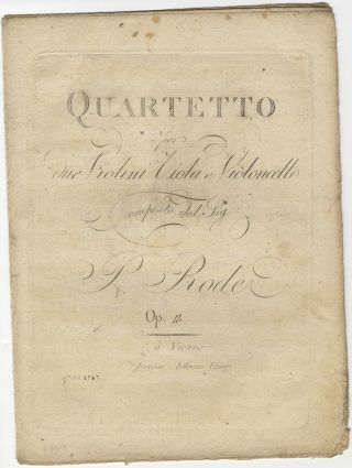 Op. 11]. Quartetto [in E-flat major] per due Violini Viola e Violoncello... Op. Pierre RODE