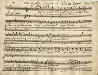 [Caption title:] Atto Secondo Terzetto. Musical manuscript short score. Late 18th century. ANON.