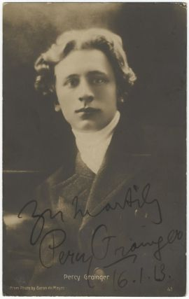 Portrait photograph signed in full, 1913. Percy GRAINGER