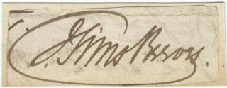 "Autograph signature (""J. Sims Reeves"") of the noted English tenor. Sims ? REEVES, John."