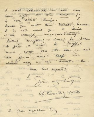Autograph letter signed in full to an unidentified male correspondent. Charles Kennedy SCOTT