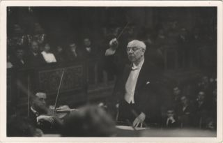 Postcard photograph of the distinguished German conductor and composer, signed, inscribed to Mela Weiss, and dated Vienna, April 1961 on verso. Robert HEGER.