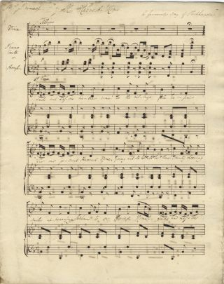 Three songs for voice and piano or harp. Musical manuscript. British, 1836. Franz STOCKHAUSEN, Thomas Simpson COOKE.
