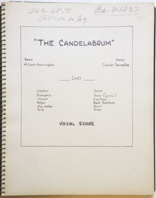 The Candelabrum Book W. Clark Harrington. [Piano-vocal score]. Charles born 1906 SORRENTINO.