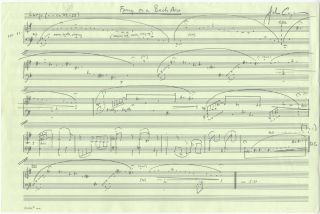 Fancy on a Bach Air for solo cello. Autograph musical manuscript signed. Undated, but 1966. The complete work. John b. 1938 CORIGLIANO.