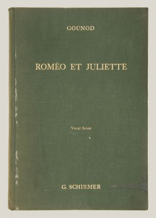 Romeo and Juliet Opera in Five Acts Libretto by J. Barbier and M. Carré... The English Version by Dr. Theo. Baker With an Essay on the Story of the Opera by W. J. Henderson. [Piano-vocal score]