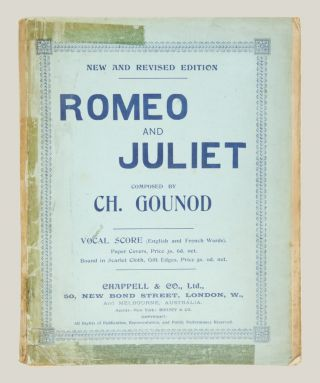 Romeo and Juliet Grand Opera Written by Jules Barbier and Michel Carré English Version by H. B. Farnie... Vocal Score (English and French Words) .. net 3 S. 6 D. [Piano-vocal score].