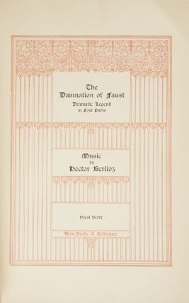 The Damnation of Faust Dramatic Legend in Four Parts... Vocal Score. [Piano-vocal score]. Hector...