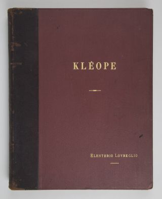 [Rhodope]. Opera in three acts with a ballet based on the poem Kléope by Marcel Durey et A.V. Lions. Manuscript piano-vocal score, possibly autograph