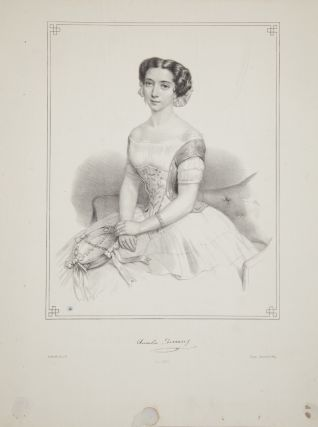Original three-quarter length lithograph by Battistelli. Amalia FERRARIS