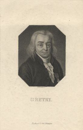 Bust-length engraved portrait of the composer by Anton Wachsmann (1782-1837). André-Ernest-Modeste GRÉTRY.