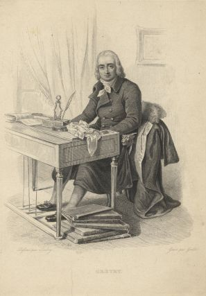 Engraving of the composer by Amadée Geille (fl. early 19th century) after Jean-Baptiste Isabey (1767-1855). André-Ernest-Modeste GRÉTRY.