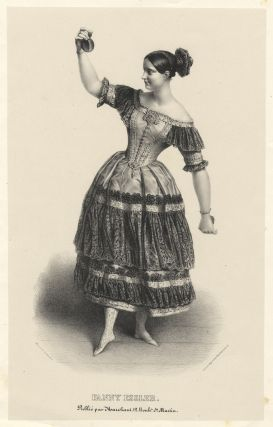 Full-length of Elssler by Alexandre Lacauchie in the role of Florinda in the ballet Le Diable Boiteux. Fanny ELSSLER.