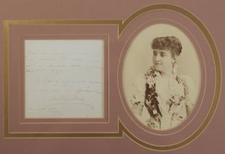 Autograph note signed in full with an original photograph. Adelina PATTI