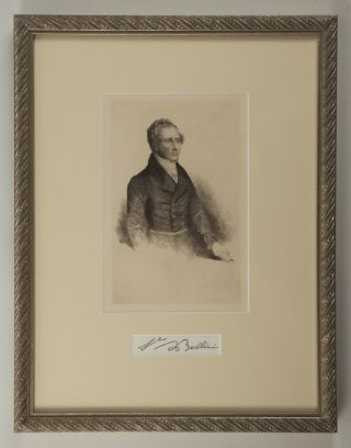 Reproduction of a bust-length portrait etching. Artist unknown.